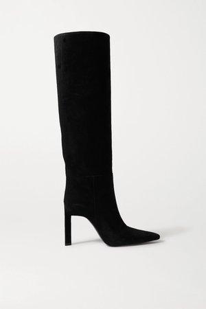 Black Suede knee boots | The Attico | NET-A-PORTER