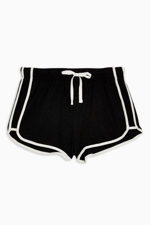 Black Sporty Neppy Runner Shorts | Topshop