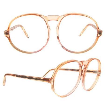 Vintage Comex Orange Round Eyeglasses