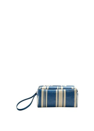MANGO Striped cosmetic bag