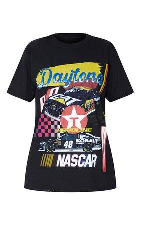 Black Racing Car Printed T Shirt | Tops | PrettyLittleThing USA