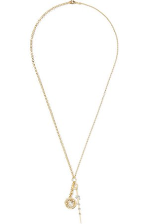Foundrae   Millie Fleur and Thorn 18-karat gold diamond necklace   NET-A-PORTER.COM