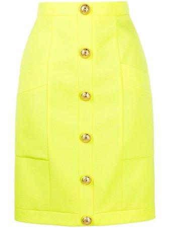 Balmain button-embellished Skirt - Farfetch