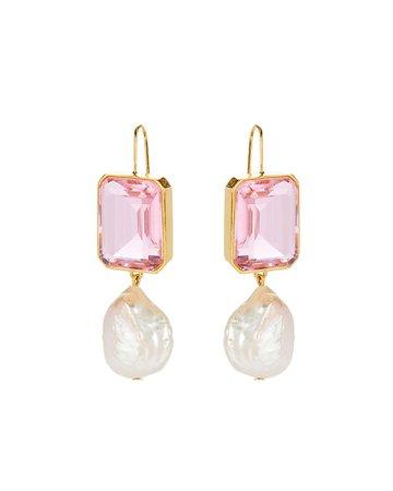 Lizzie Fortunato Aegean Pearl Drop Earrings | INTERMIX®