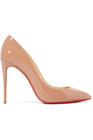 Christian Louboutin | Pigalle Follies 100 patent-leather pumps | NET-A-PORTER.COM