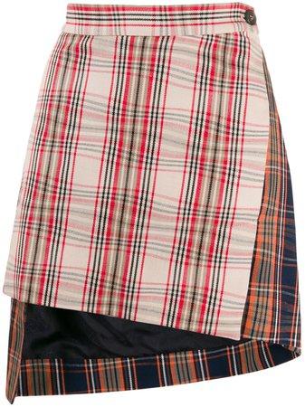 Vivienne Westwood Asymmetric Plaid Skirt - Farfetch