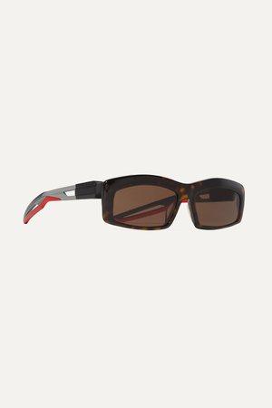 Tortoiseshell Hybrid square-frame tortoiseshell acetate sunglasses | Balenciaga | NET-A-PORTER