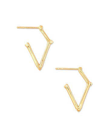 Mina Hoop Earrings in 14k Yellow Gold | Kendra Scott