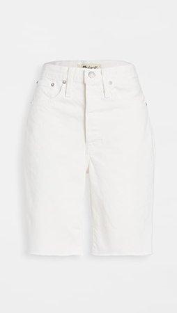 Madewell High Rise Long Denim Shorts   SHOPBOP