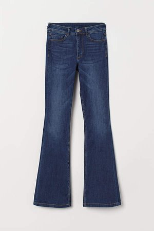 Mini Flare High Jeans - Blue
