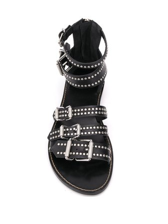 Zadig&voltaire Studded Strappy Sandals SJAB1709F Black | Farfetch