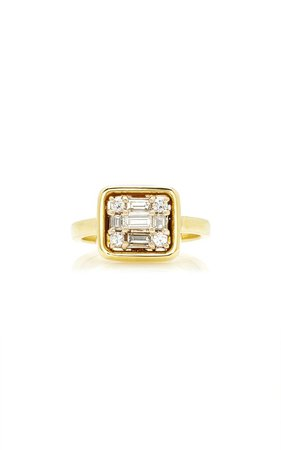 18K Yellow Gold and Diamond Ring by Mindi Mond | Moda Operandi