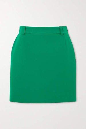 Wool-blend Mini Skirt - Green
