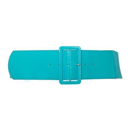 teal blue wide belt