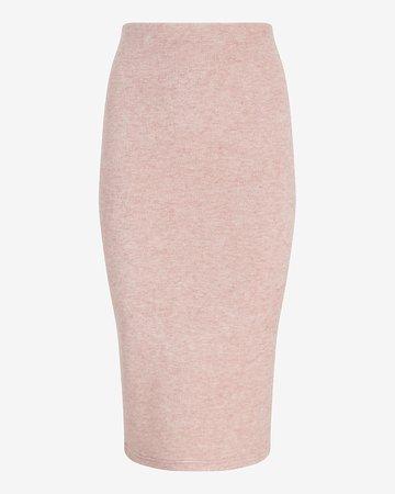 Super High Waisted Heathered Pencil Skirt | Express