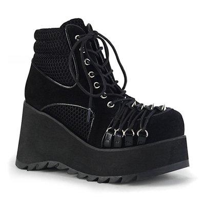 Demonia SCENE-32 D-Ring Gothic Platform Boots
