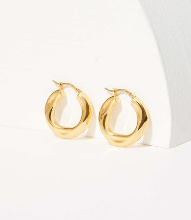 Modern Hoop Earrings | LOFT
