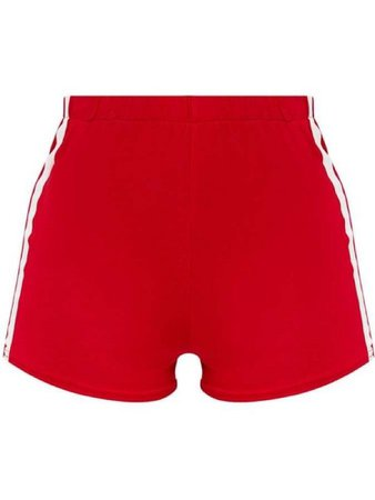 Red white line shorts