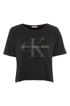 Crop Logo T-shirt by Calvin Klein Jeans - T-Shirts - Clothing - Topshop