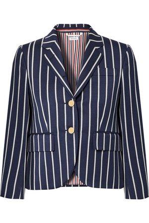 Thom Browne | Striped wool and cotton-blend blazer | NET-A-PORTER.COM