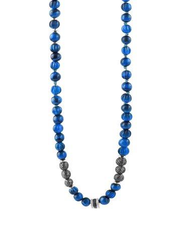Tateossian The Formentera Sodalite Necklace