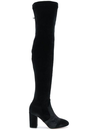 AQUAZZURA STRETCH VELVET BOOT.