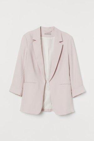 Fitted Blazer - Light pink - Ladies | H&M US