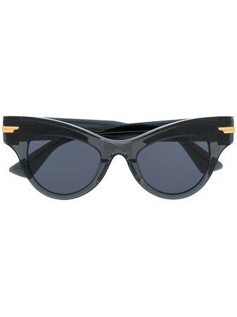 Bottega Veneta Eyewear Oversized cat-eye Sunglasses - Farfetch
