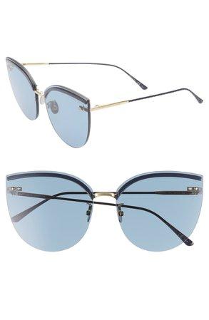 Bottega Veneta 62mm Oversize Rimless Cat Eye Sunglasses | Nordstrom