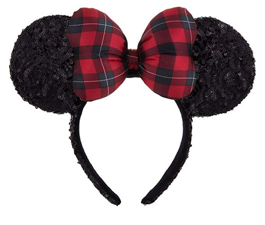 Amazon.com: Minnie Mouse Ears Headband with Christmas Plaid Bow: Health & Personal Care