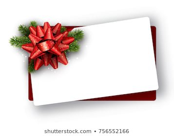 White Paper Greeting Gift Card Template Stock Vector (Royalty Free) 1193570704