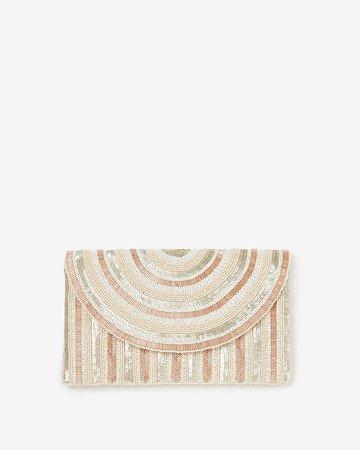 Sequin Embellished Clutch | Express