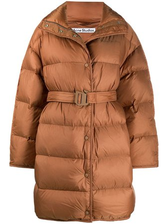 Acne Studios belted padded coat - FARFETCH