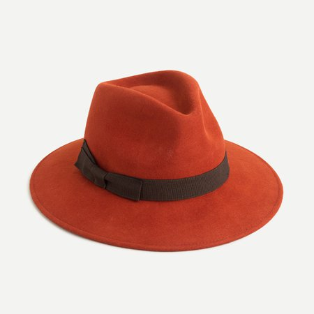 J.Crew: Western Hat With Grosgrain Trim (Dark Twig)