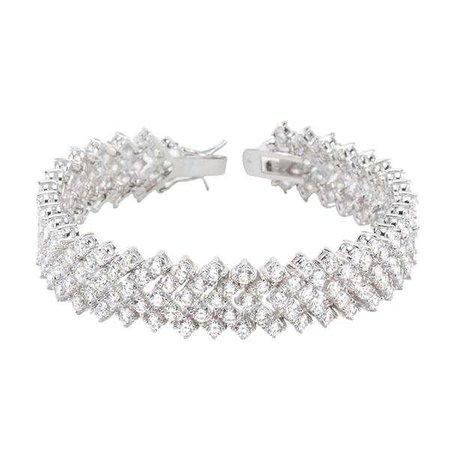 Fashiontage - Silver Zircon Bracelet