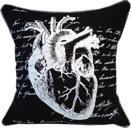 Anatomical Heart Pillow (black)
