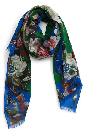 Dries Van Noten Floral Cotton Scarf | Nordstrom