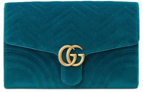 GG Marmont velvet clutch
