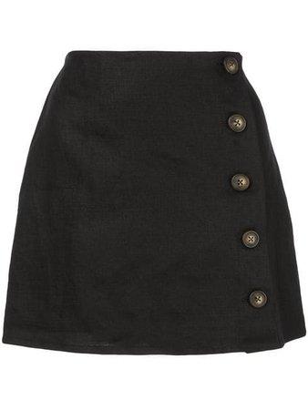 REFORMATION Candella skirt black