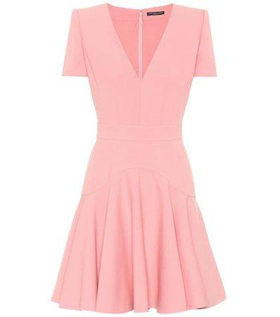 Wool and silk-blend dress