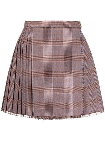 Acne Studios Check Pleated mini-skirt - Farfetch