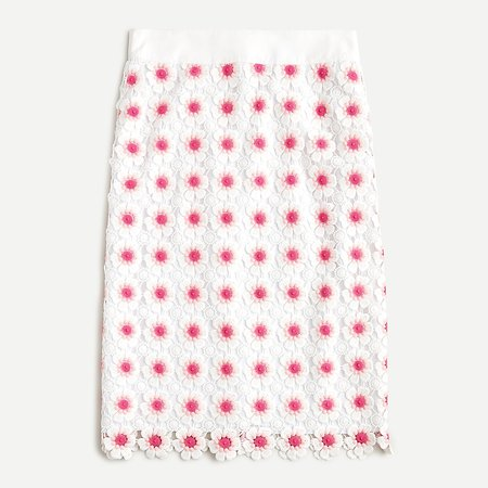 J.Crew: Pencil Skirt In Floral Crochet For Women