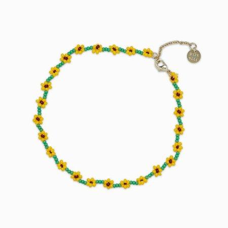 Sunflower Seed Bead Anklet | Pura Vida Bracelets