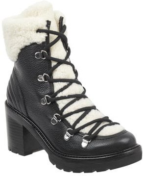 Daven Genuine Shearling Lace Up Boot