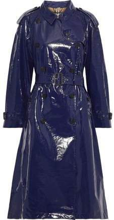 Belted Glossed-cotton Trench Coat