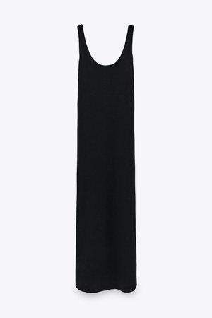 COTTON LINEN BLEND DRESS   ZARA United States