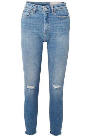 rag & bone | Nina distressed high-rise skinny jeans | NET-A-PORTER.COM