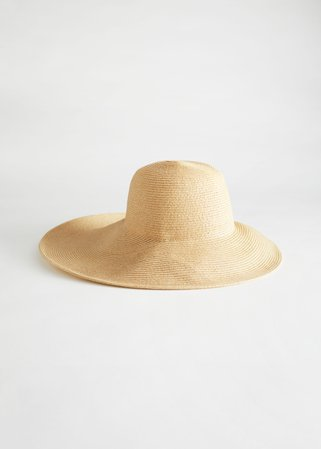 Wide Brim Straw Ribbon Hat - Straw - Hats - & Other Stories