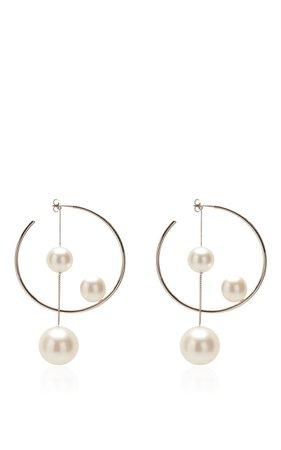 Ivory Pearl Hoop Earring by Salvatore Ferragamo