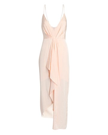 Significant Other Samantha Twisted Moiré Dress   INTERMIX®